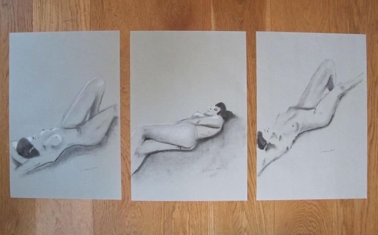 Set of Three Reclining Nudes - Image 0
