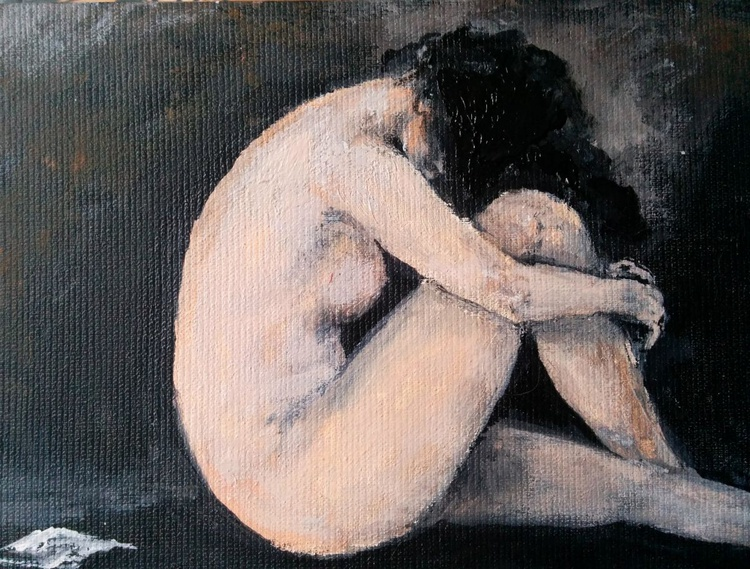 Small Sketch of Nude with Bowed Head - Image 0