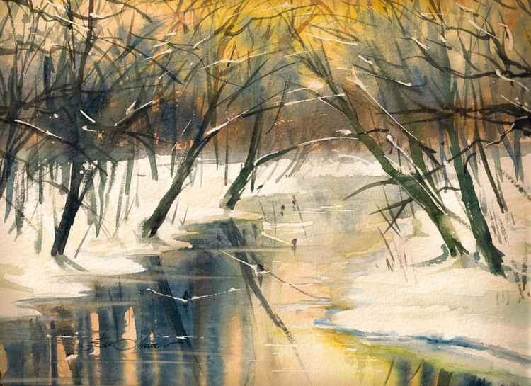 Winter river -