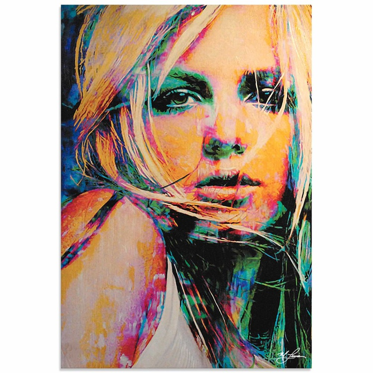 Mark Lewis 'Britney Spears Snow Blind' Limited Edition Pop Art Print on Metal - Image 0