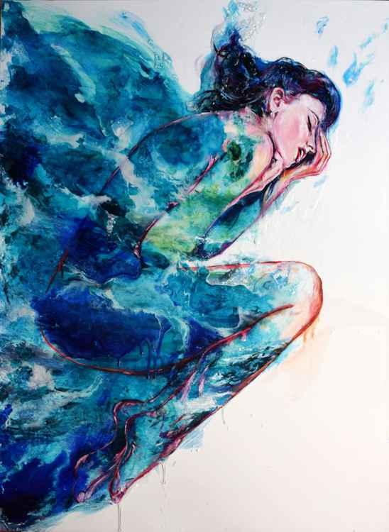 Dreaming of Mediterranean Sea / 100 cm x 75 cm -