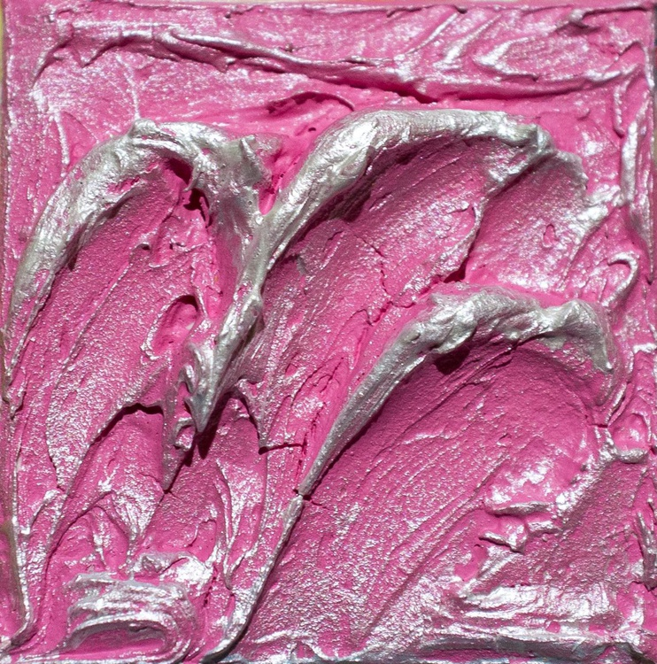 Thriving Pink (Palette Knife) Miniature - Image 0