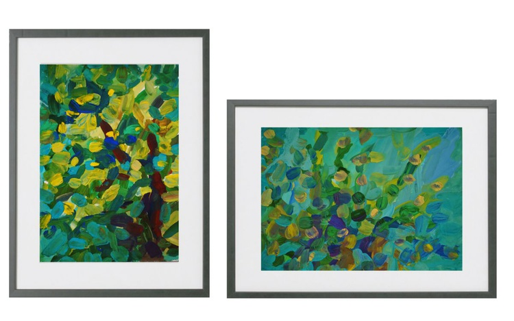 """""""Sunny Canopy Of Tall Trees"""" Set of 2 - Image 0"""