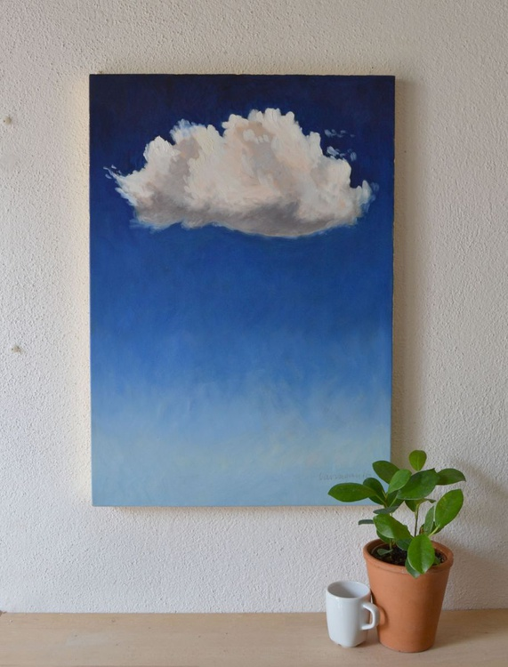 Little Cloud Oil Sky Painting - Image 0