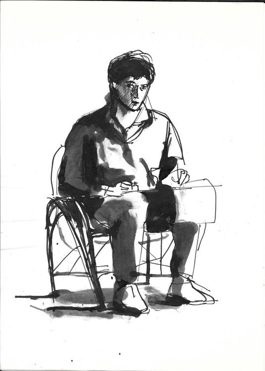 Self-portrait, rue Rochechouart, #3 21x29 cm - Image 0