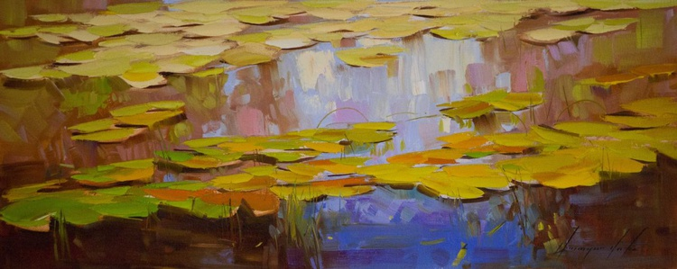 Waterlilies Oil Painting - Image 0