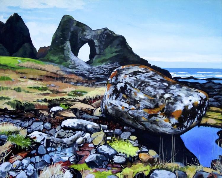 Lichen Covered Rocks On The North Coast - Image 0
