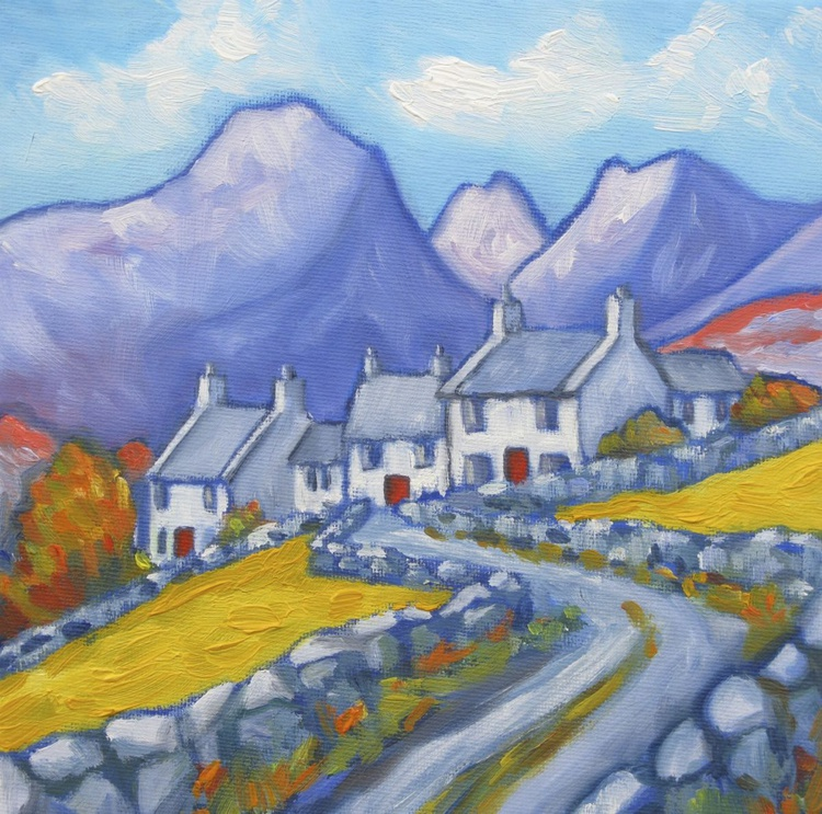 Valley Cottages and Red Doors-Nant Ffrancon, Snowdonia - Image 0