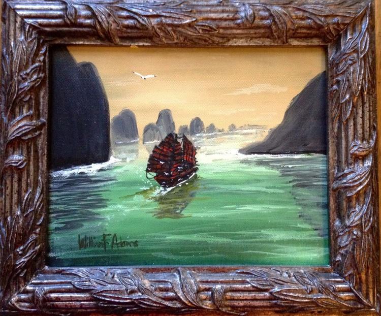 RED SAILS ON A JADE SEA - Image 0