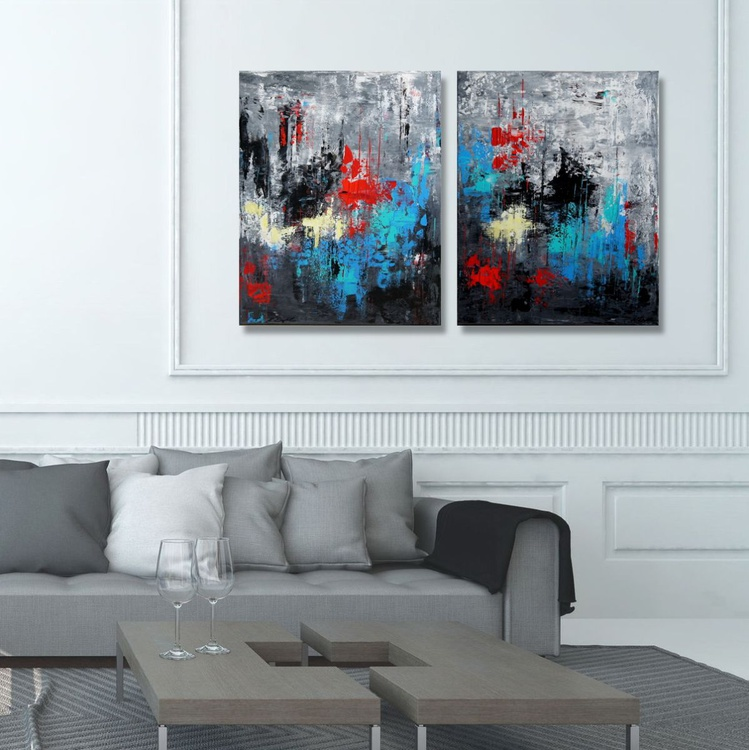From Dusk Till Dawn (Diptych: 2x  40 x 50 cm) - Image 0