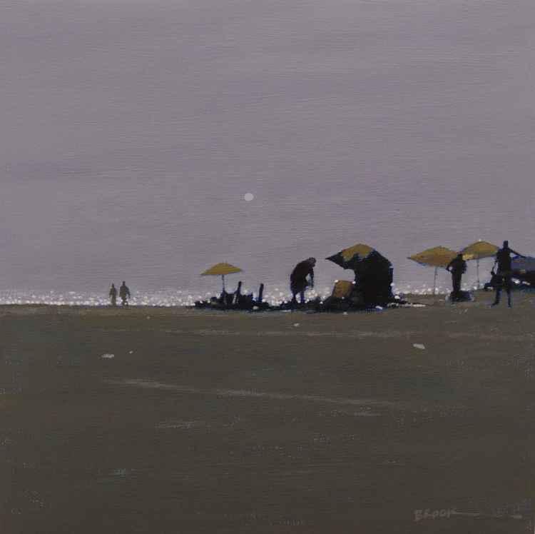 Hazy beach.