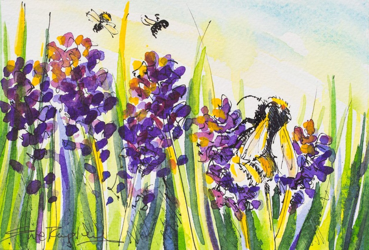 Bees and Lavender - Image 0