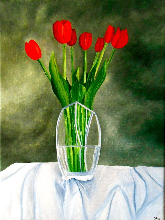 Still life with tulips - Image 0