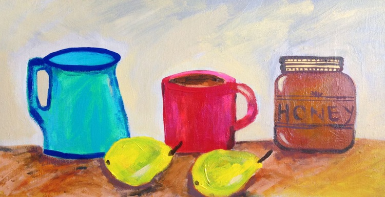 Mundane morning  on 24 X 12  Canvas - Image 0