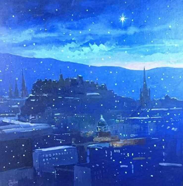 Silent night, Edinburgh -