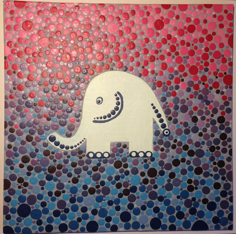 Purple elephant - Image 0