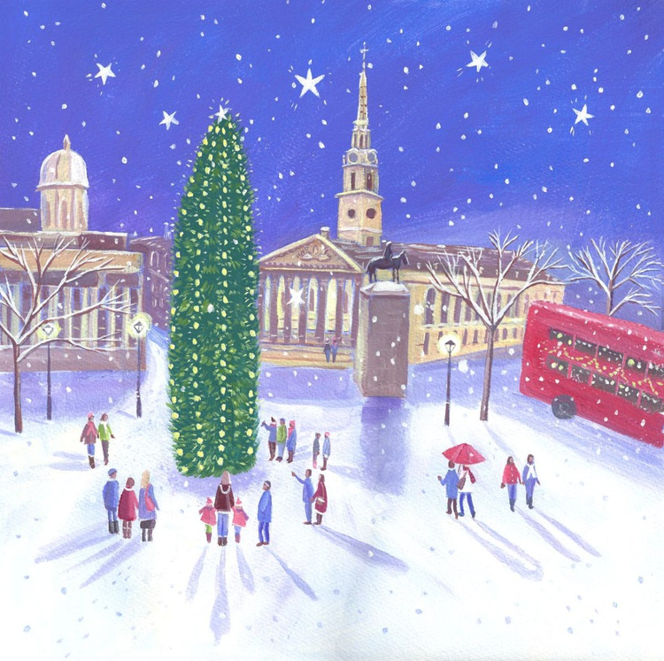 Trafalgar Square at Christmas - Image 0