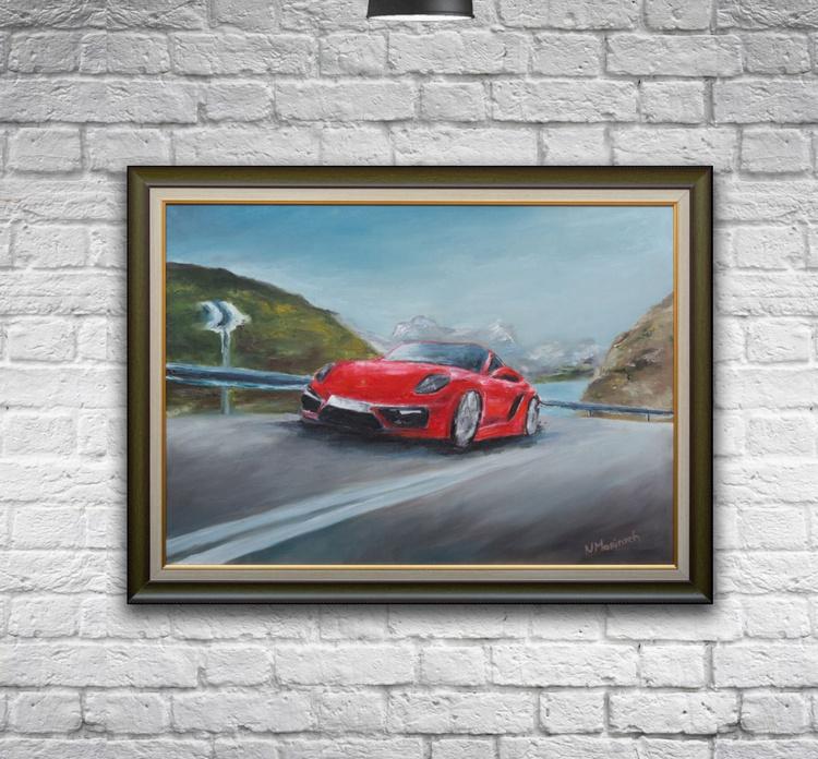 Oil painting, Porsche, Car painting - Image 0