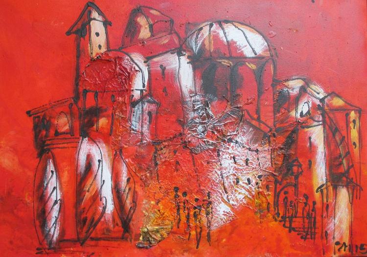 red italian landscape - Image 0