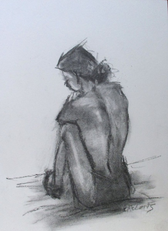 Life study in charcoal - Image 0