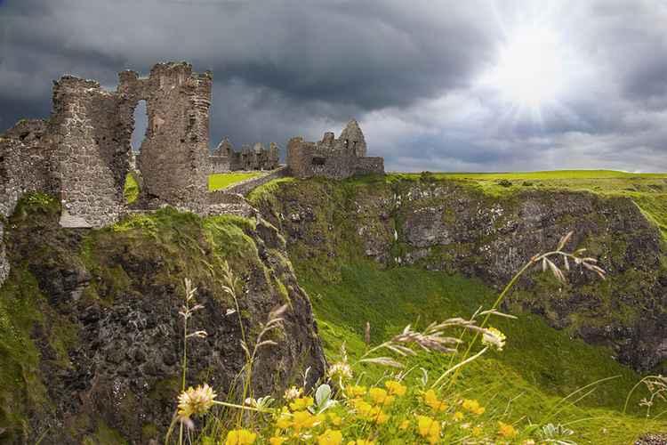 Ruins of Dunluce Castle, Northern Ireland -
