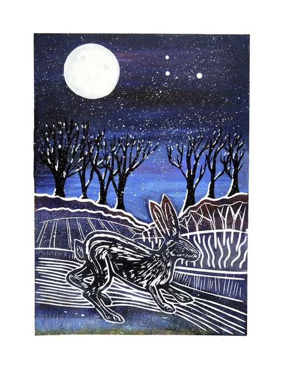 Midnight Hare in Blue - Image 0