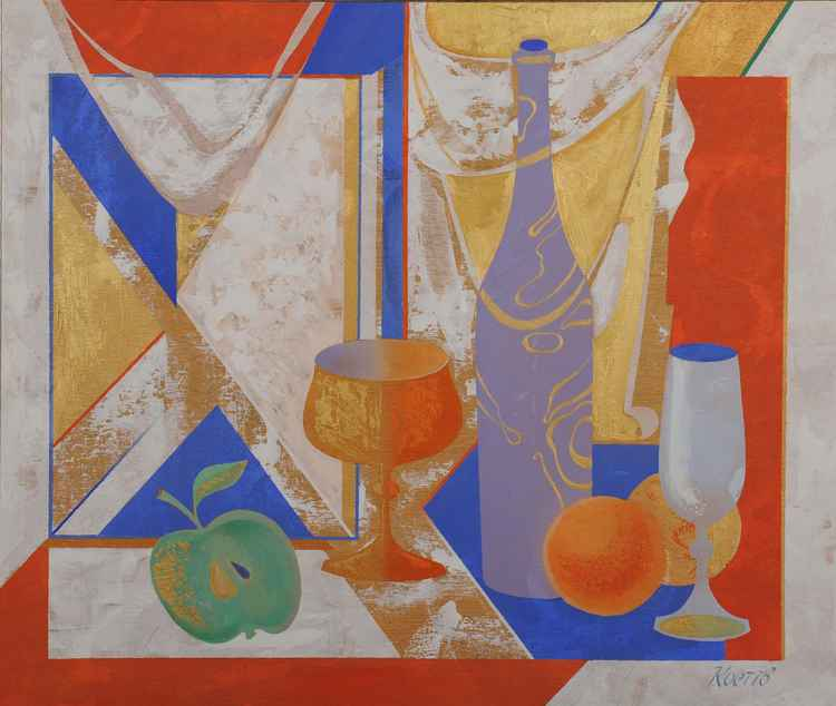 Still-life with Green Apple