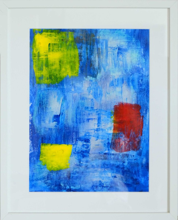 Cubes on Blue - Image 0