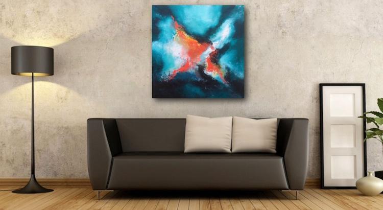 """""""Lyrical Abstractart"""" / Acrylic Painting 32x32"""" - Image 0"""