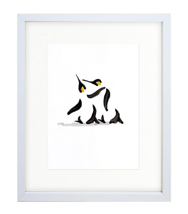 Two penguins 1 (21x15 cm) - Image 0