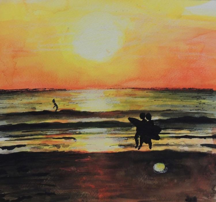 'Woolacombe Beach' Sunset - Image 0
