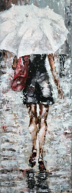 White Umbrella- Long Deep Edge Canvas Ready to Hang - Image 0