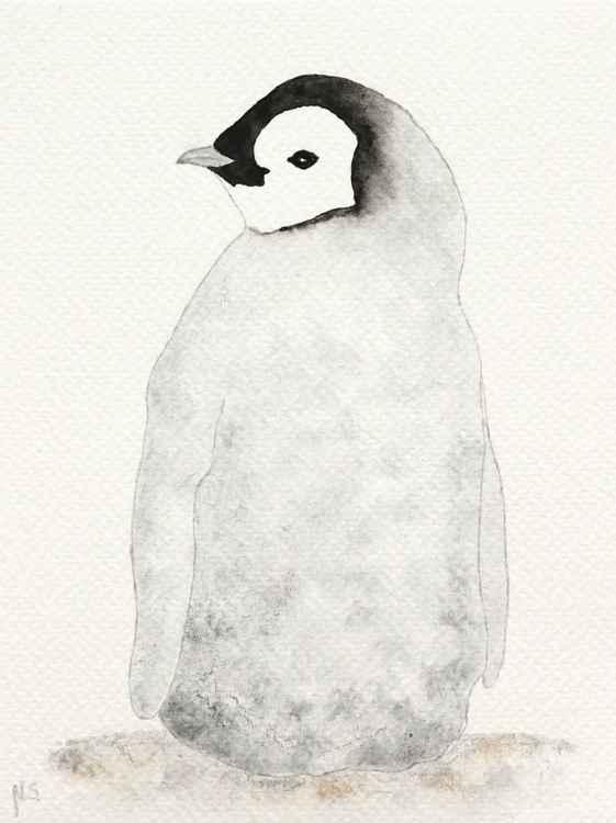 The emperor penguin chick