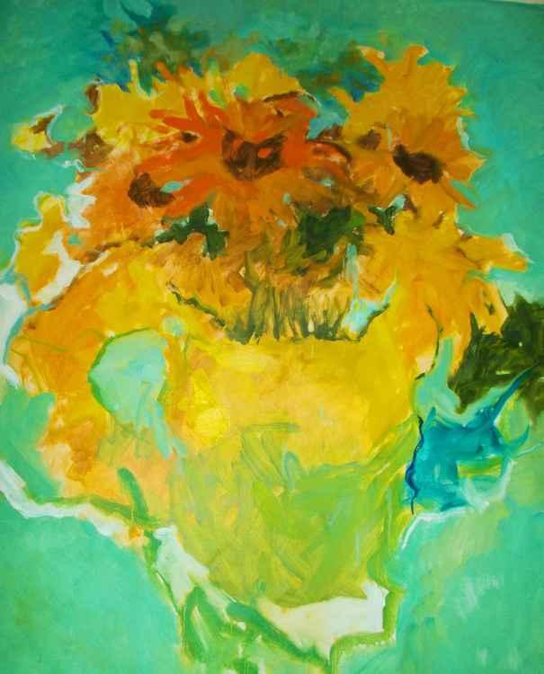 41x46 inch Van Gogh Inspired Flower -