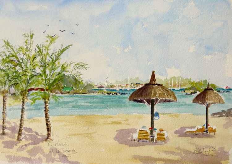 The beach at Le Touessrok, Mauritius -