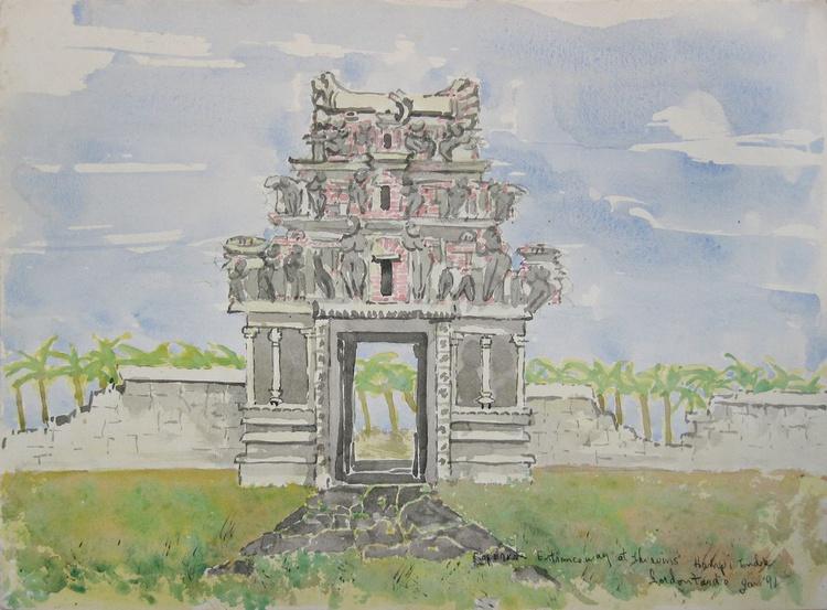 Gopuram, Entranceway at the ruins  Hampi, India - Image 0
