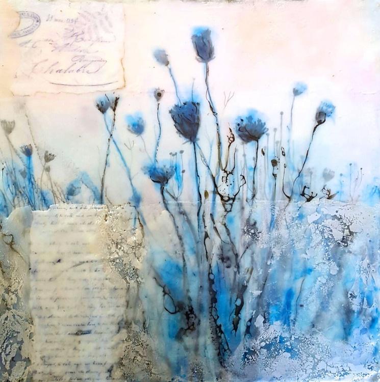 Winterfield, encaustic painting - Image 0