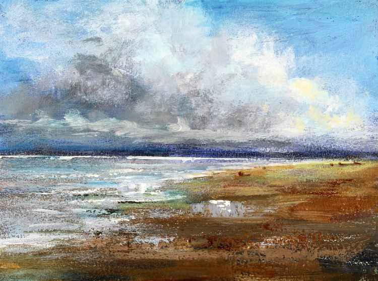 Where the sky dips down - Balmedie Beach, Aberdeen Scotland