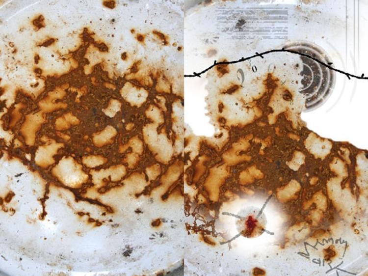 MEMORY MARKS HUMAN FACE TRACES FOUND ART URBEX URBAN EXPLORATION PHOTO BY KLOSKA - Image 0