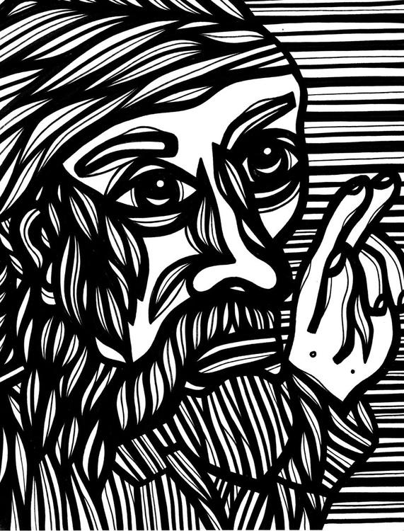 Man Munificent Original Drawing - Image 0