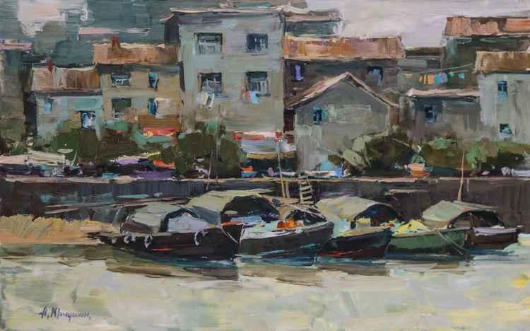 Beihai. Fishing boats. -