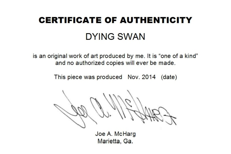 """Dying Swan   34"""" x 18"""" - Image 0"""