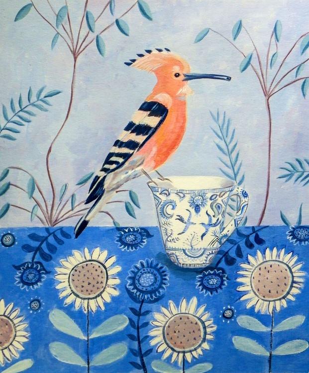 Hoopoe on a teacup - Image 0
