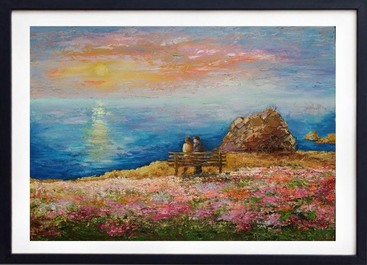 Spring in Opal Cliffs, 70×50 cm, original, Free Shipping - Image 0