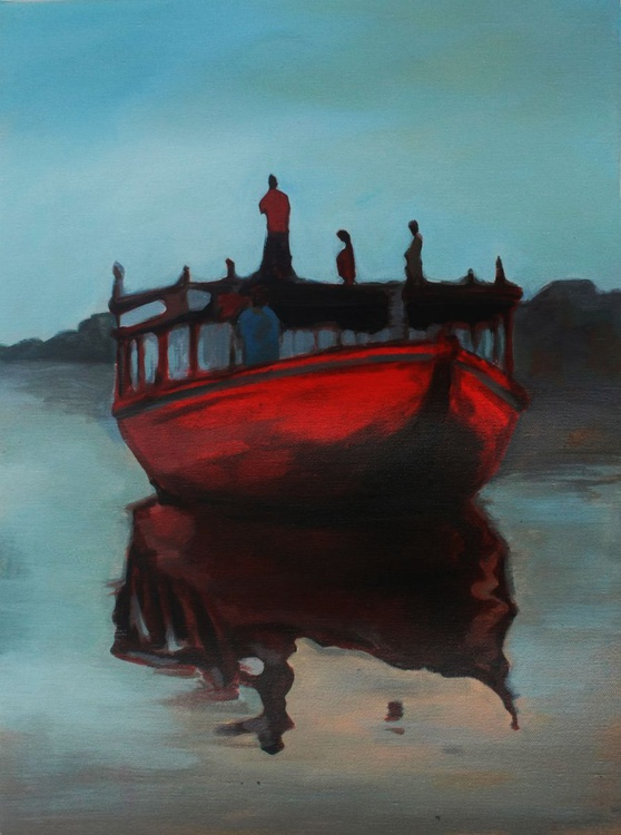 Dreams of Thames | Journey continues , ORIGINAL , ACRYLIC PAINTING - Image 0