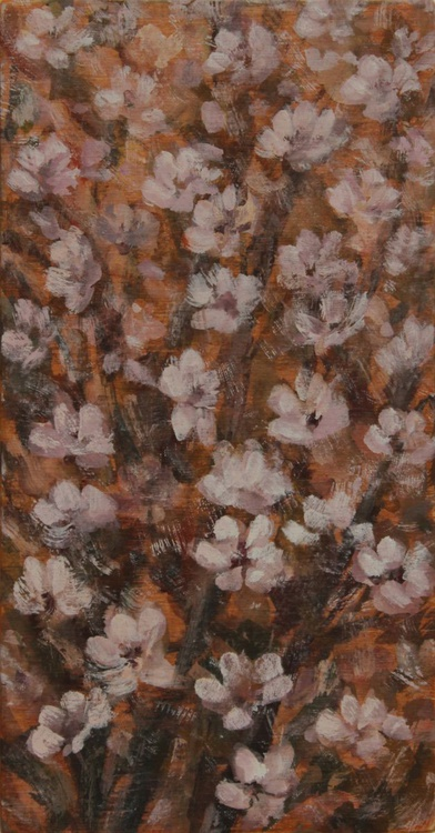 Flowering Tree in the Wind, 2015, acrylic on wood, 18.5 x 9.7 cm - Image 0