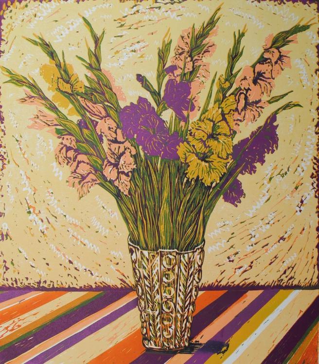"""""""Gladioli in a Vase"""" - Image 0"""