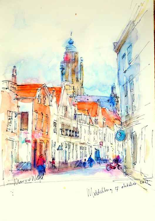 Middelburg sight on Townhall -