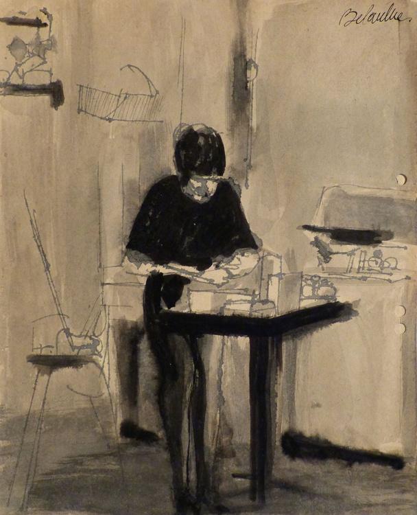 Agatha In the Kitchen, 22x27 cm - Image 0
