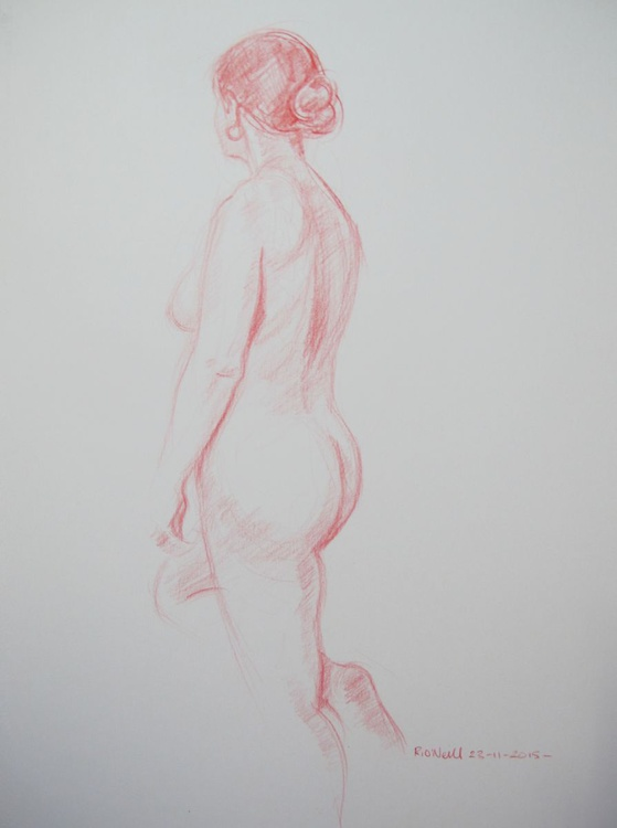 standing female nude - Image 0